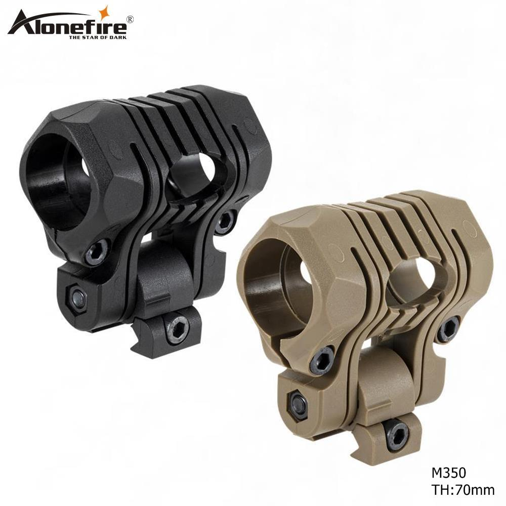 AloneFire M350 25.4mm Tactical Helmet Flashlight Holder Torch Clip Mount Rail Clamp For Picatinny 21mm Rail