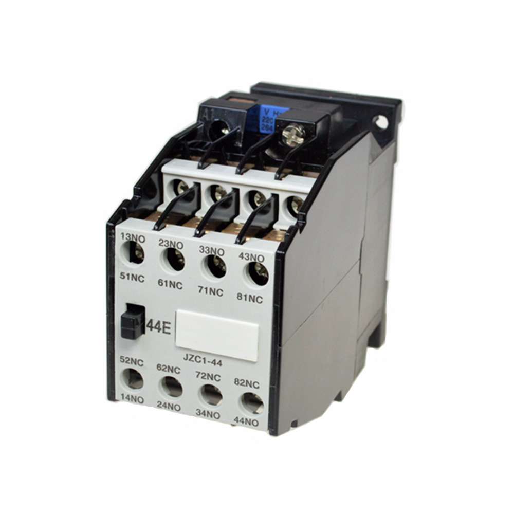 35mm DIN Rail Mount Contactors 4NO 4NC 24V 36V 110V 220V 380V 50Hz Coil Volt Ith 10A AC Motor Contactor Relay Starter JZC1-44 1set my4nj dc 12v coil 4no 4nc green led indicator power relay din rail 14 pin base mini relay