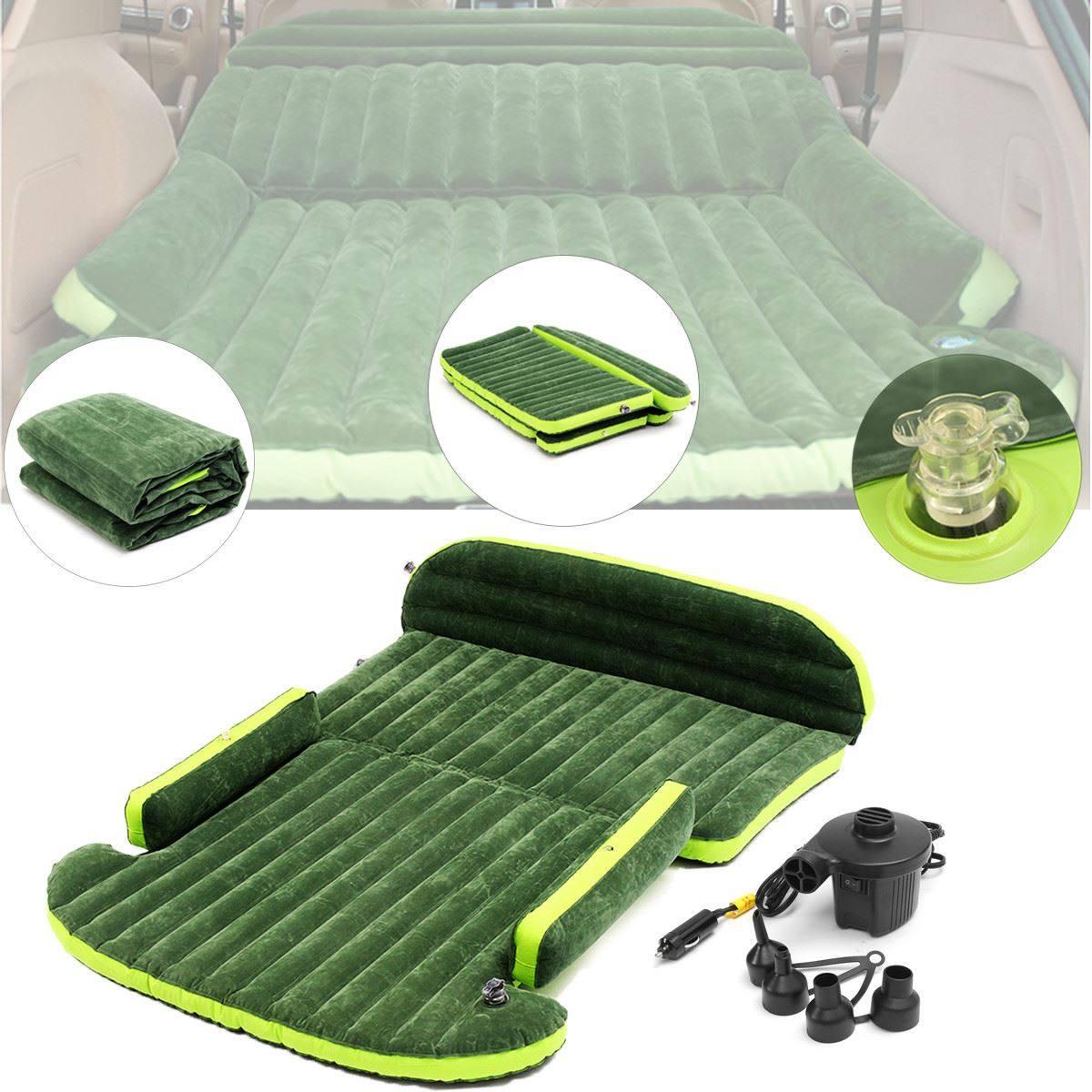 SUV Inflatable Air mattress with Air Pump Tapete Intex Car Back Seat Sleeping Rest Bed Camping Mat Mattresses 180cm x 128cm durable thicken pvc car travel inflatable bed automotive air mattress camping mat with air pump