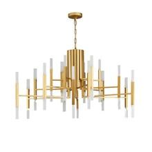 Wongshi современный золотой белый черный акрил Утюг подвесной светильник Nordic гостиная кухня дизайнер подвесные светильники