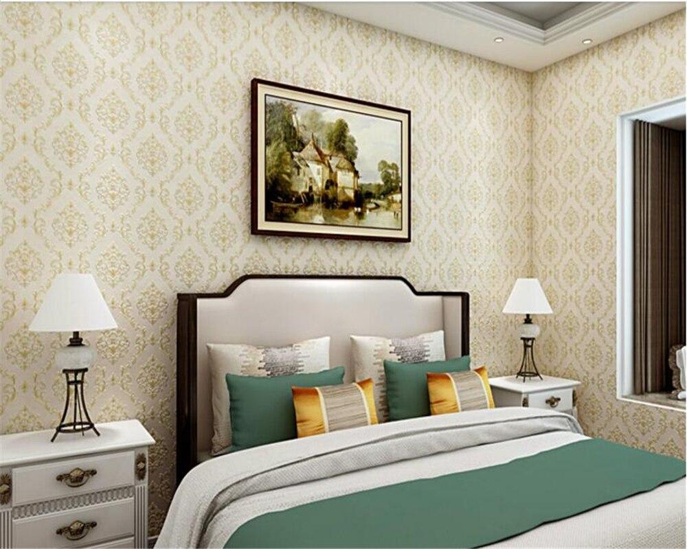 Beibehang classique européen damassé papier peint chambre luxe non-tissé papel de parede papier peint salon toile de fond papier peint
