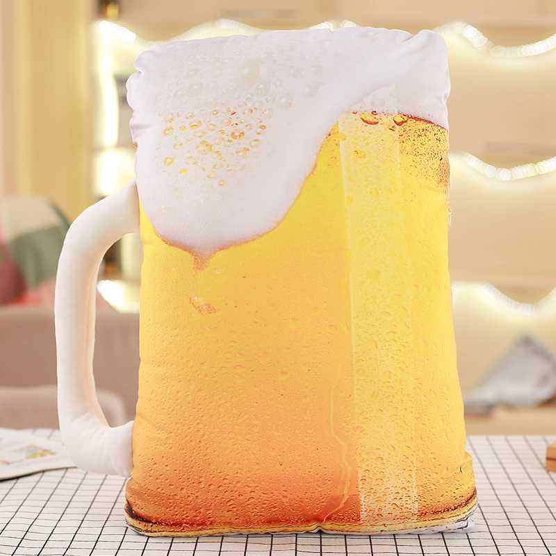 ホットシミュレーション食品の形のぬいぐるみ枕クリエイティブケーキコーヒービールぬいぐるみぬいぐるみソファクッション家の装飾のための子供