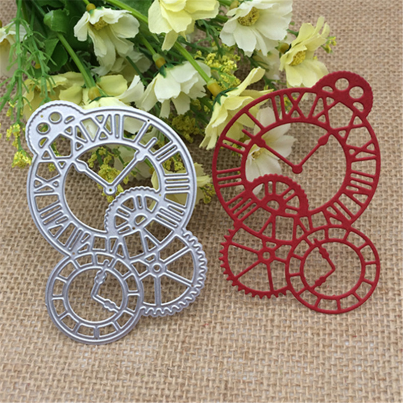 Clock Time Axis Metal Cutting Dies Stencil Scrapbooking Photo Album Card Paper Embossing Craft DIY