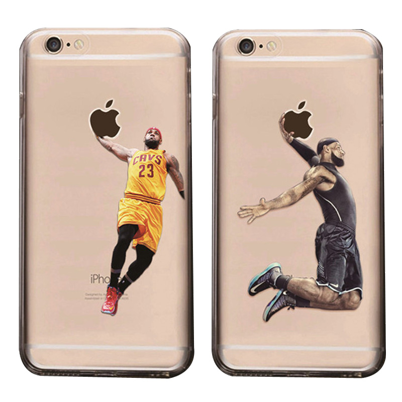 Basketball Superstars Soft Cover Cell phone Case for iPhone 5 5S 6 6S 6 Plus 6S Plus Case Michael Jordan LeBron James Phone Case