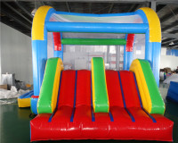 Factory sale cheap price playground inflatable bouncer jumping slide with blower