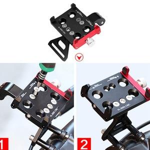 Image 3 - JINSERTA CNC אלומיניום אופני אופניים Stand הר עבור Gopro 7 סוגר מתאם עם טלפון נייד מחזיק לgopro 6/5 Xiaomi יי