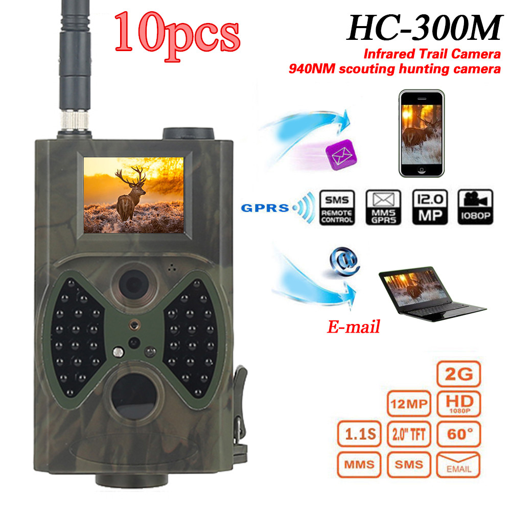 Skatolly 10pcsHC300M Hunting Trail Camer MMS GPRS Email 940nm Infrared Wild Camera 12MP 1080P Night Vision for Animal Photo Trap wireless outdoor mms gsm gprs hunting camera 12mp 1080p motion detector for animal wireless outdoor mms gsm gprs hunter camera