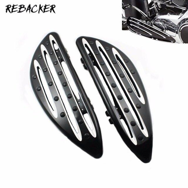 Accessoires de moto de haute qualité finition anodisée noire planchers de pilote pour Harley FLH FLST FLD pièces