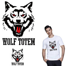 Trend Cool Wolf Iron On Heart transfer For Clothing Patches Men Diy Clothes Stickers Fashion T-shirt Decor Appliques