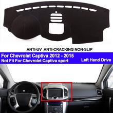 Samochodu TAIJS pokrywa deski rozdzielczej mata na deskę rozdzielczą dla Chevrolet Captiva 2012 2013 2014 2015 mata na deskę rozdzielczą deska rozdzielcza Pad dywanik Dashmat anty-uv tanie tanio Włókien syntetycznych For Chevrolet Captiva 2012 2013 2014 2015