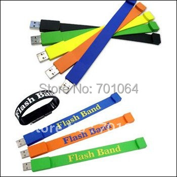 Bottom price: 300units x 1GB Mb Bracelet USB flash drive PVC usb flash drive hot sales flash pendrive