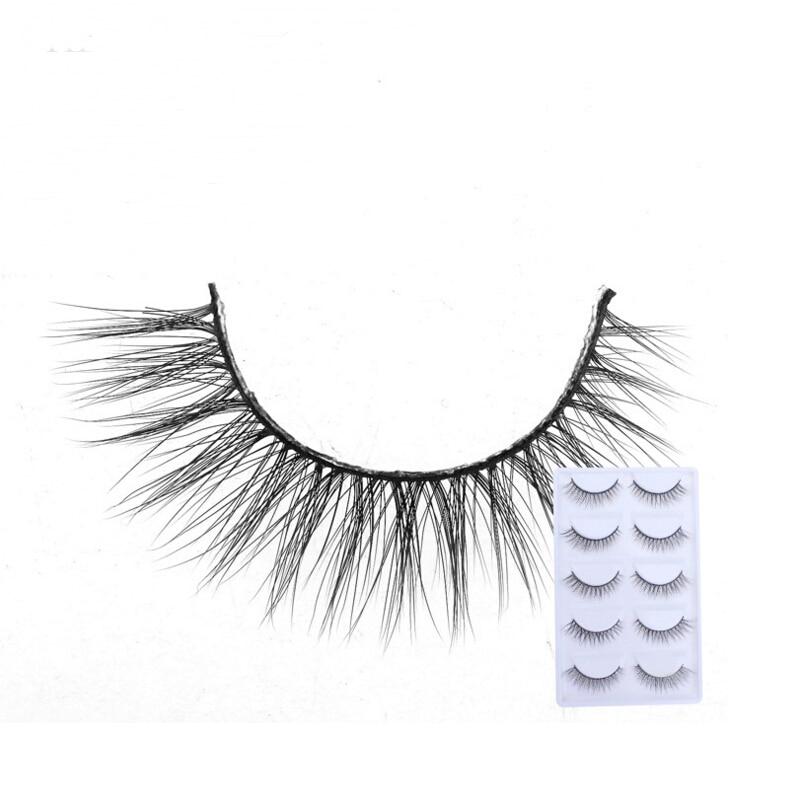 2018 NEW 5 Pairs mink eyelashes natural long 3d mink lashes hand made false eyelashes 1 box makeup eyelash extension E15
