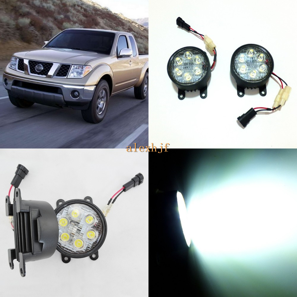 July King 18W 6LEDs H11 LED Fog Lamp Assembly Case for Nissan Frontier 2005~ON, 6500K 1260LM LED Daytime Running Lights july king 18w 6leds h11 led fog lamp assembly case for nissan versa 2012 on 6500k 1260lm led daytime running lights
