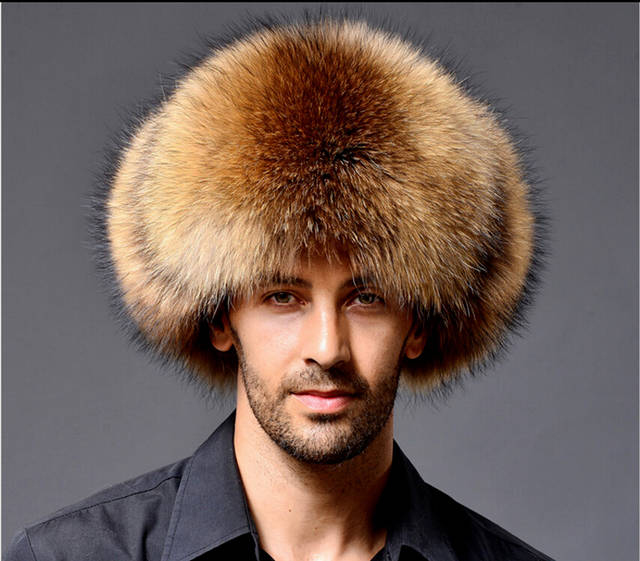 85f79008 2018 New Winter Mnes Bommer Hats Men's Winter Raccoon Fur&Lamb Leather  Russian Hunter Hat Trapper Ear Hats-in Bomber Hats from Apparel Accessories  on ...