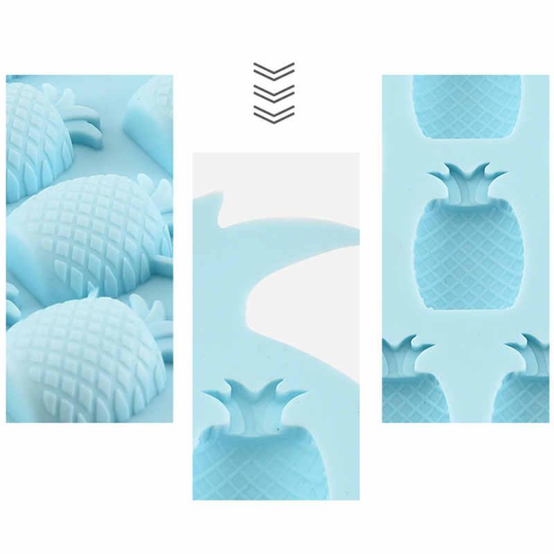 Abacaxi 12 Grade Máquina de Gelo Bandeja de Gelo de Silicone Molde De Gelo Cozinha Gadgets Criativo Cubos de Gelo de Fruta