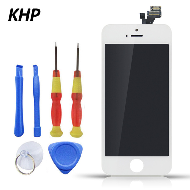100% KHP Original AAA LCD Screen For iPhone 5 5S Display Replacement Touch Screen Digitizer Assembly With Tool Kits