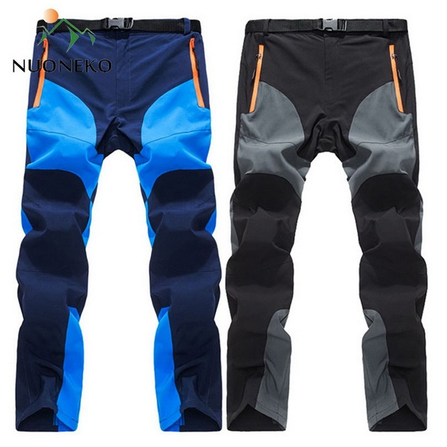 NUONEKO New Mens Summer Quick Dry Hiking Pants Men Outdoor Sports Breathable Trekking Trousers Mens Mountain Climbing Pants PN14