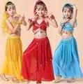 3 pcs Set Meninas Menina Crianças Criança Desempenho Traje de Dança Do Ventre Crianças Bollywood Egípcio Egito Dança Do Ventre Trajes de Dança Do Ventre