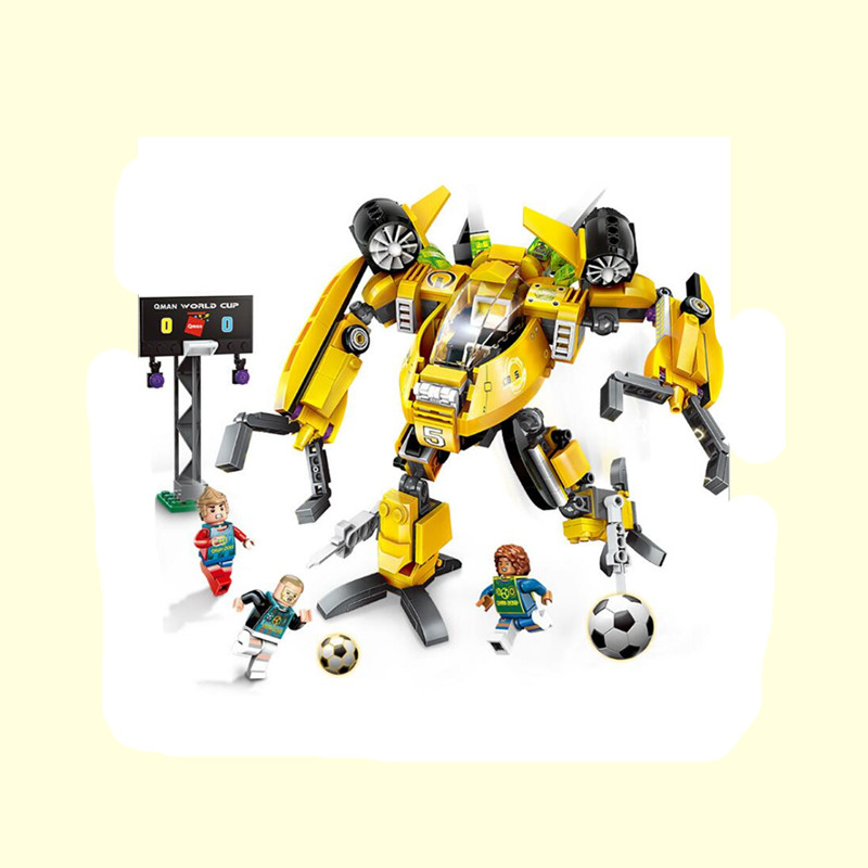 357pcs Enlighten Super Soccer Slide Tackle Robot Building Blocks Bricks Educational Toys Children Gift Christmas Legoings