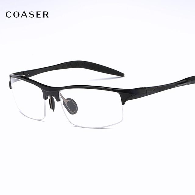 3a088430fc COASER Good SPORT Men Glasses Frame TR90 Lighter Reading Prescription  Optical Eyeglasses Computer Eyewear clear lens