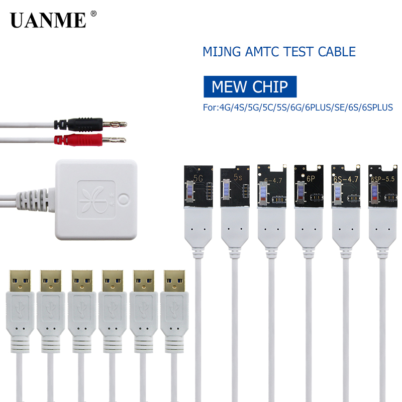 UANME Power Charger Test Cable For iPhone 6 6plus 6s 6splus 4 4G 5G 5C 5S Restore Battery Active Motherboard Testing Repairing genuine original new earpiece ear speaker repair replacement flex cable for iphone 6 6p 6s 6splus high quality free shipping