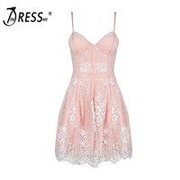 2016 New Sexy Lace Spaghetti Strap Fashion Party Dress