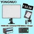 YONGNUO YN-300 YN300 Воздуха LED Видеокамеры Света 3200 К-5500 К с NP-F750 Decoded Аккумулятор + Зарядное Устройство для Canon Nikon и Видеокамеры