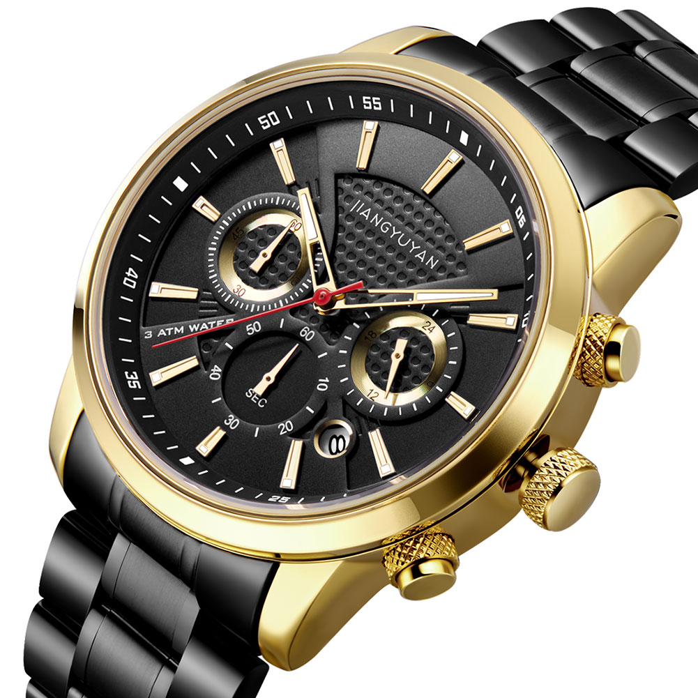 mens watches luxury watch classy gold unique Luminous Hands Stainless Steel Complete Calendar Water Resistant  1638mens watches luxury watch classy gold unique Luminous Hands Stainless Steel Complete Calendar Water Resistant  1638