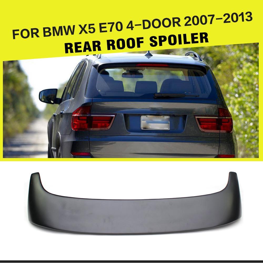 Авто задний спойлер на крыше губ крыла лобовое стекло для БМВ Х5 Е70 2007-2013 стеклопластик Неокрашенная черный автомобиль-стайлинг