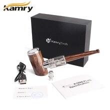 100% Оригинал Kamry e-трубы комплект электронных кальян пера 1100 мАч Мощность деревянный Дизайн e трубы K1000 плюс Электронный сигареты VAPE ручка