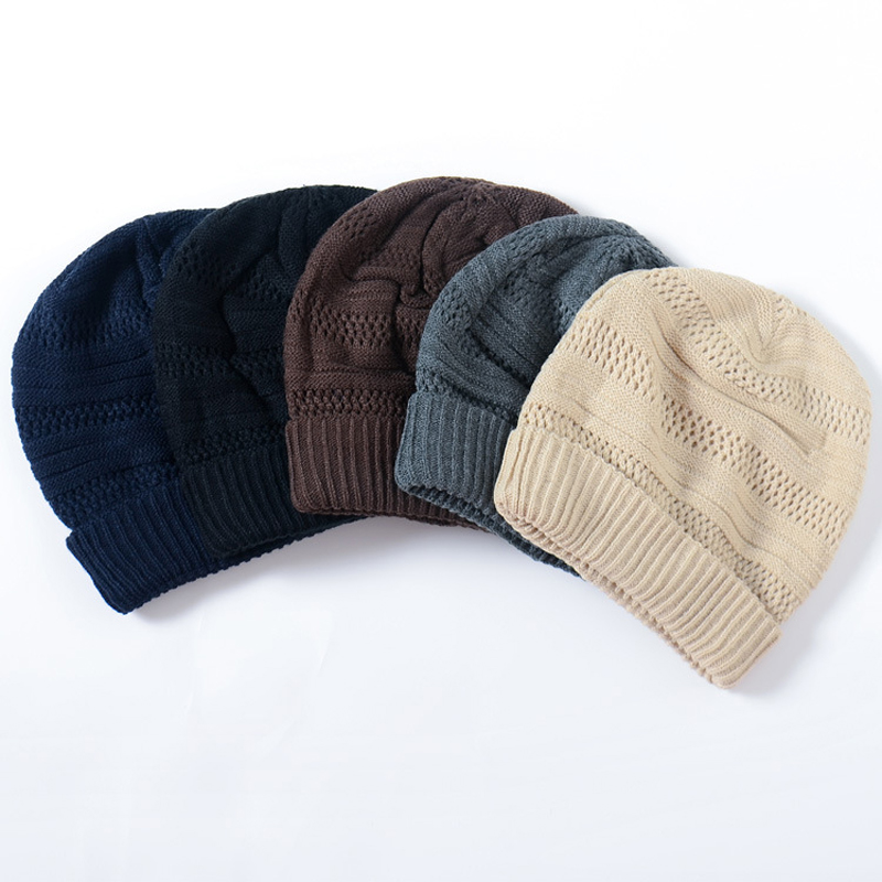 1pcs Fashion Winter Hats for Men and Women Crochet Knitting Wool Cap Casual Skullies Beanies for Women Thick Warm Female Cap multifunctional hats for women and men skullies