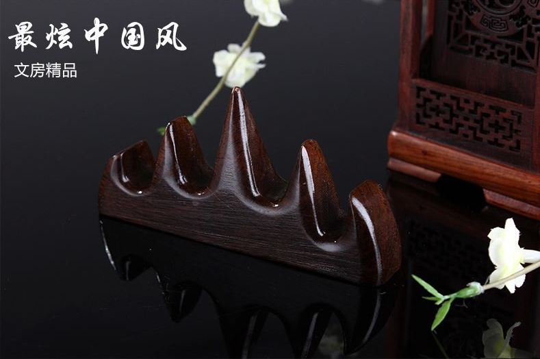 Chinese Brush Calligraphy Pen Holders High Quality Wood Mountain Shape Holders Business Gifts Chinese Style Decor ACS010