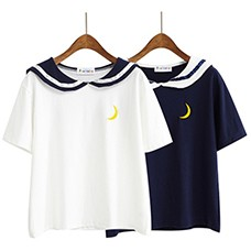 Women-Harajuku-Letter-T-Shirt-Sailor-Collar-Kawaii-Embroidery-Tee-Tops-Female-Summer-Short-Sleeve-Loose