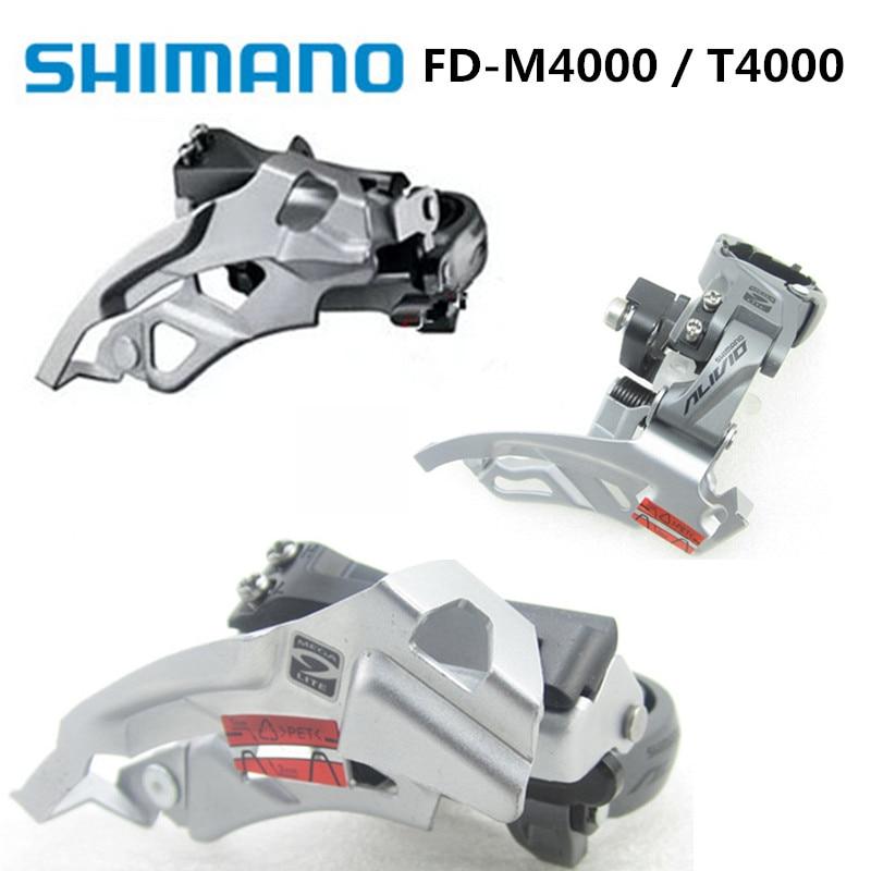 Original Shimano Alivio Fd-m4000 Front Dial 9-speed Mountain Bike Front Dial 27-speed Front Derailleur Fd-t4000 Bicycle Derailleur