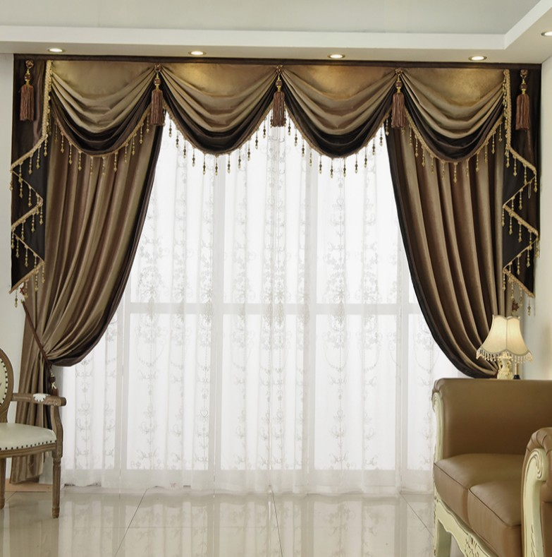 High Window Curtains: Curtains For Living Room High Shading Floral Window