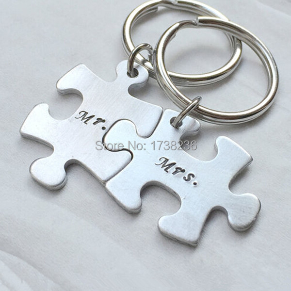 couples keychains personalized couples keyrings puzzle pieces