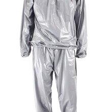 Фитнес водонепроницаемый ПВХ Пот Сауна костюмы сверхмощный потеря веса анти-рип тренировки сауна одежда для тренажерного зала упражнения Бодибилдинг L
