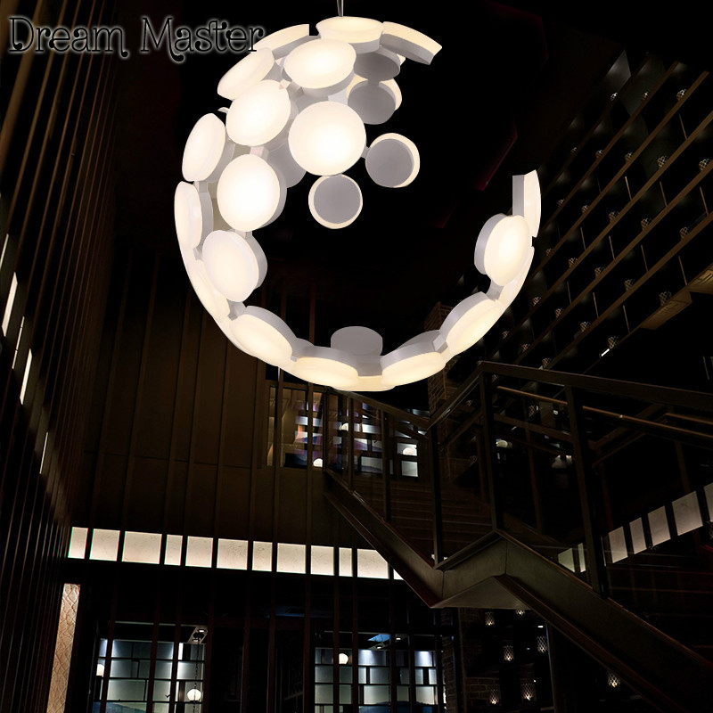 Nordic minimalist modern chandelier hollowing creative living room bedroom restaurant ball shaped personality art lamps nordic bedroom lamp clot multiple chandelier iron minimalist living room lights modern creative restaurant a1 zh