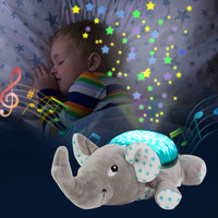 Baby Sleep LED Lighting Stuffed Animal Led Night Lamp Plush Toys With Music Stars Projector Light