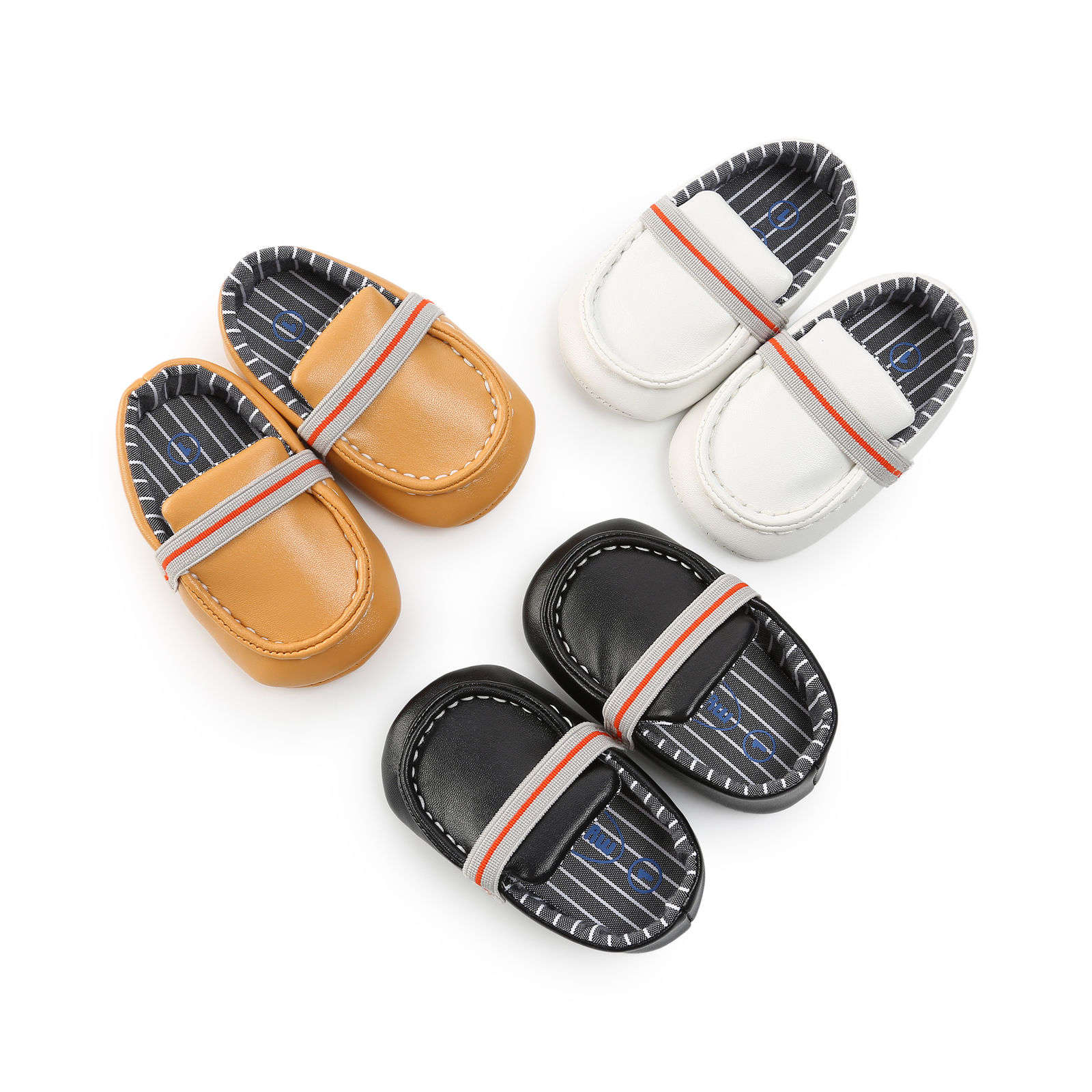 Fancy Infant Baby PU Leather Shoes Infants Girl Boy Soft Sole Sneakers First Walker 0-18Month