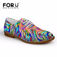 FORUDESIGNS 2017 Casual Mens Flats Galaxy Star Men Oxford Flat Shoes Puzzle Style High Quality Spring