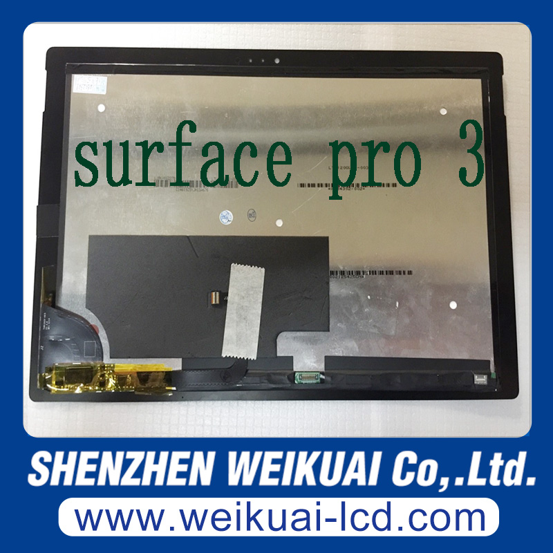 BRAND NEW LCD Display Assembly With Digitizer Touch Screen For Microsoft Surface Pro 3 (1631)  1645 TOM12H20 V1.1 LTL120QL01 003 lcd touch screen digitize for xiaomi mi 3 m3 mi3s lcd display with touch screen freeshipping