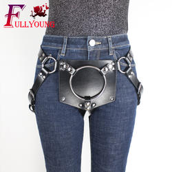 Fullyoung искусственная кожаная портупея Фетиш нижнего белья Rave ремни для ног для женские, сексуальные, эротические пояс чулок тела Связывание