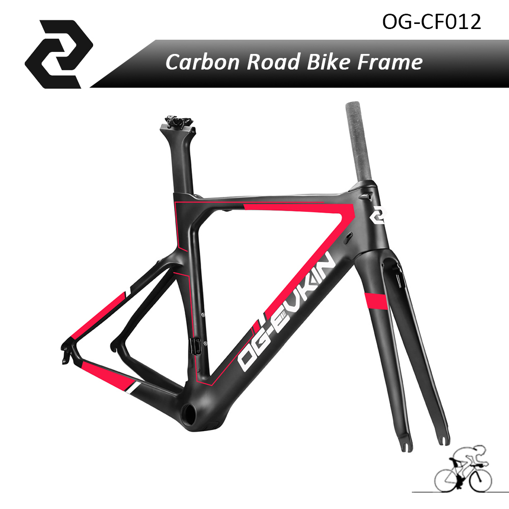 2017 Free Shipping OG-EVKIN New Carbon Bicycle Road Matt/Glossy Aero Track Frame Bike Parts Red Di2 BB386 45/48/50/52/54/56cm top selling og evkin 3k weave bb386 carbon road bike frame aero carbon bicycle frameset 49 52 4 56cm
