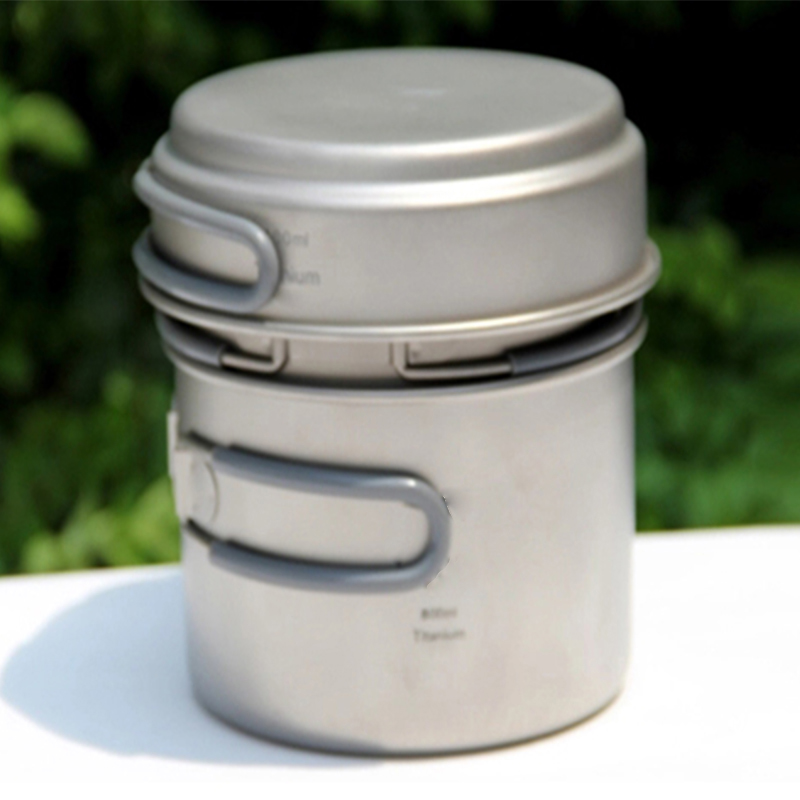 Keith titanium pots set открытый отдых туризм titanium набор посуды котел и кастрюля и сковорода 0.4l 0.8l l ti6014