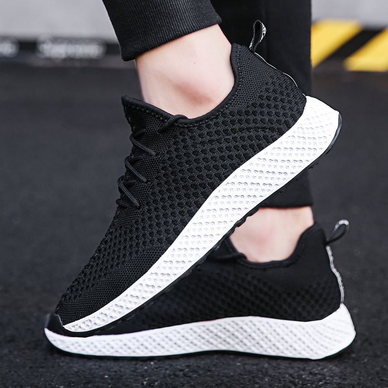 Plat Confortable Maille gray Respirant Mode red Sport Hommes Chaussures Black D'été up Nouveaux 5 2018 Légères De Mesh Lace wW8qPXTYnR