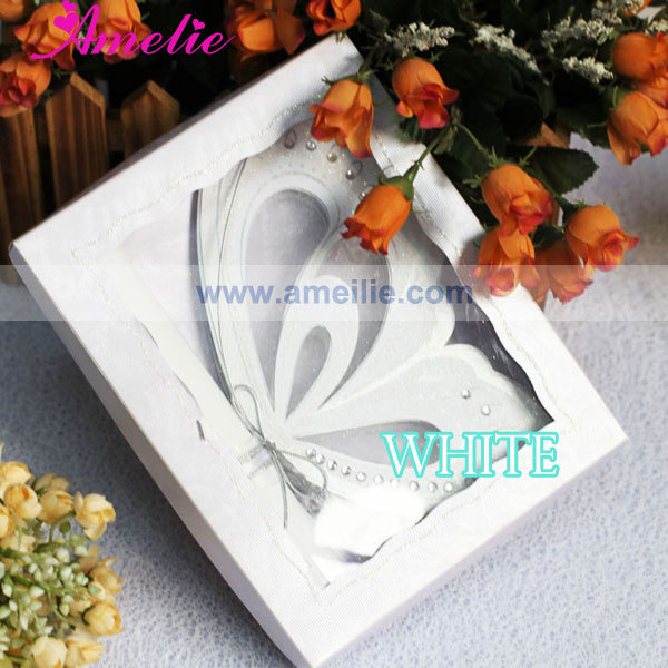 50PcsLot White Color Unique Wedding Card Invitation DIY Butterfly