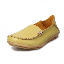 New Women Flats Genuine Leather shoes Flat Loafers Casual La