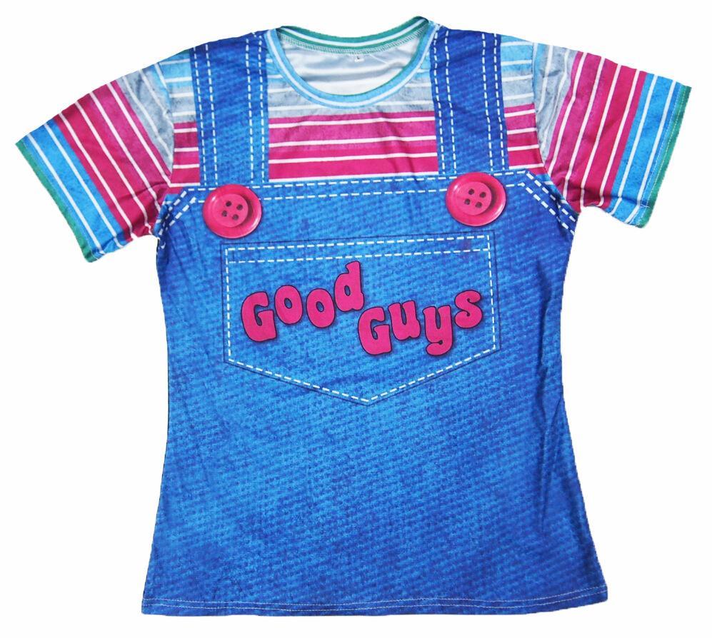3512c563 Sondirane Cute Kawaii Stripe T Shirts Harajuku Halloween Chucky Good ...