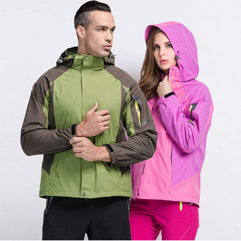 ФОТО Autumn And Winter men and women Two-piece suit triple Windproof Thickening Outdoor Jackets